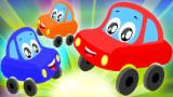 Little Red Car Rhymes - Twinkle Twinkle Little Star | Car Songs | Nursery Rhymes