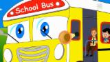 wheels on the bus go round and round | bus song | learn transport | vehicle songs