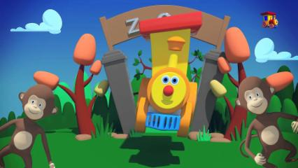 Ben The Train- Ben Going To The Zoo | Animal Song | Zoo Adventure