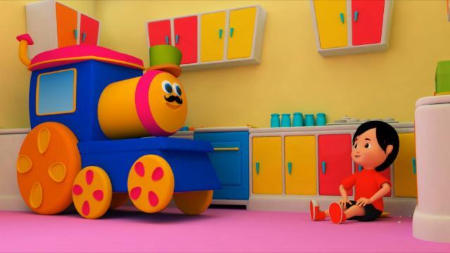Bob The Train   Johny Johny Yes Papa   3D Nursery Rhymes For Childrens   Baby Songs Kids
