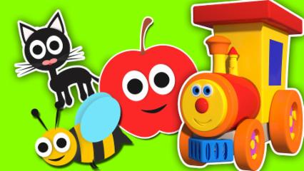 Nursery Rhymes By Kids Baby Club - Ben The Train- Ben Going To The Zoo