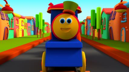 Bob The Train | Head Shoulder Knees And Toes | Nursery Rhymes For Children's
