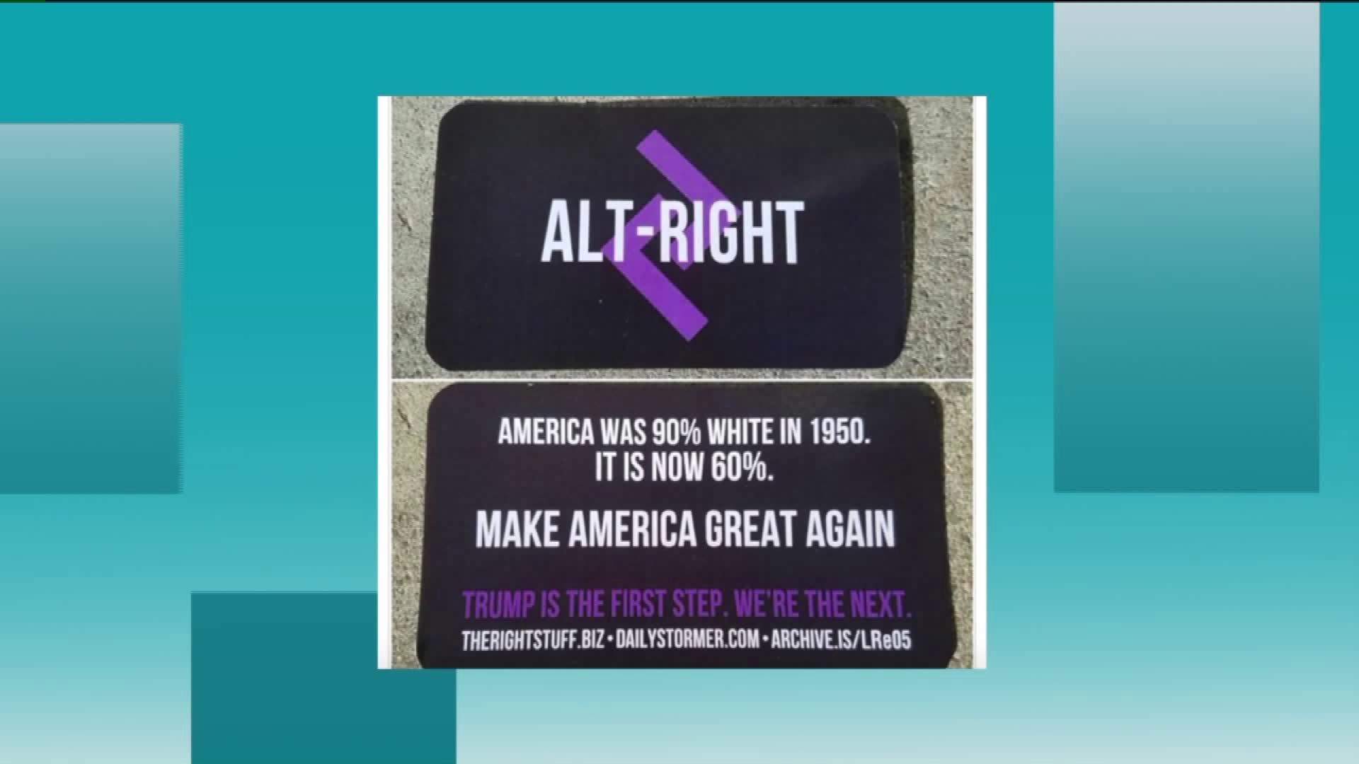 Woman finds alt-right business cards in restaurant - AOL