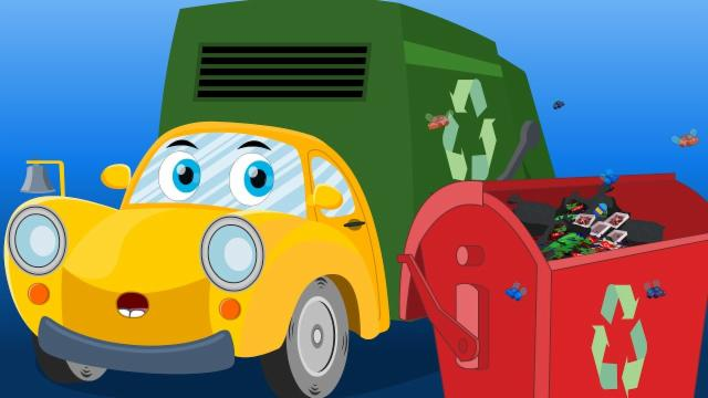 Ralph And Rocky  | Garbage Truck Song | Car Rhymes F...