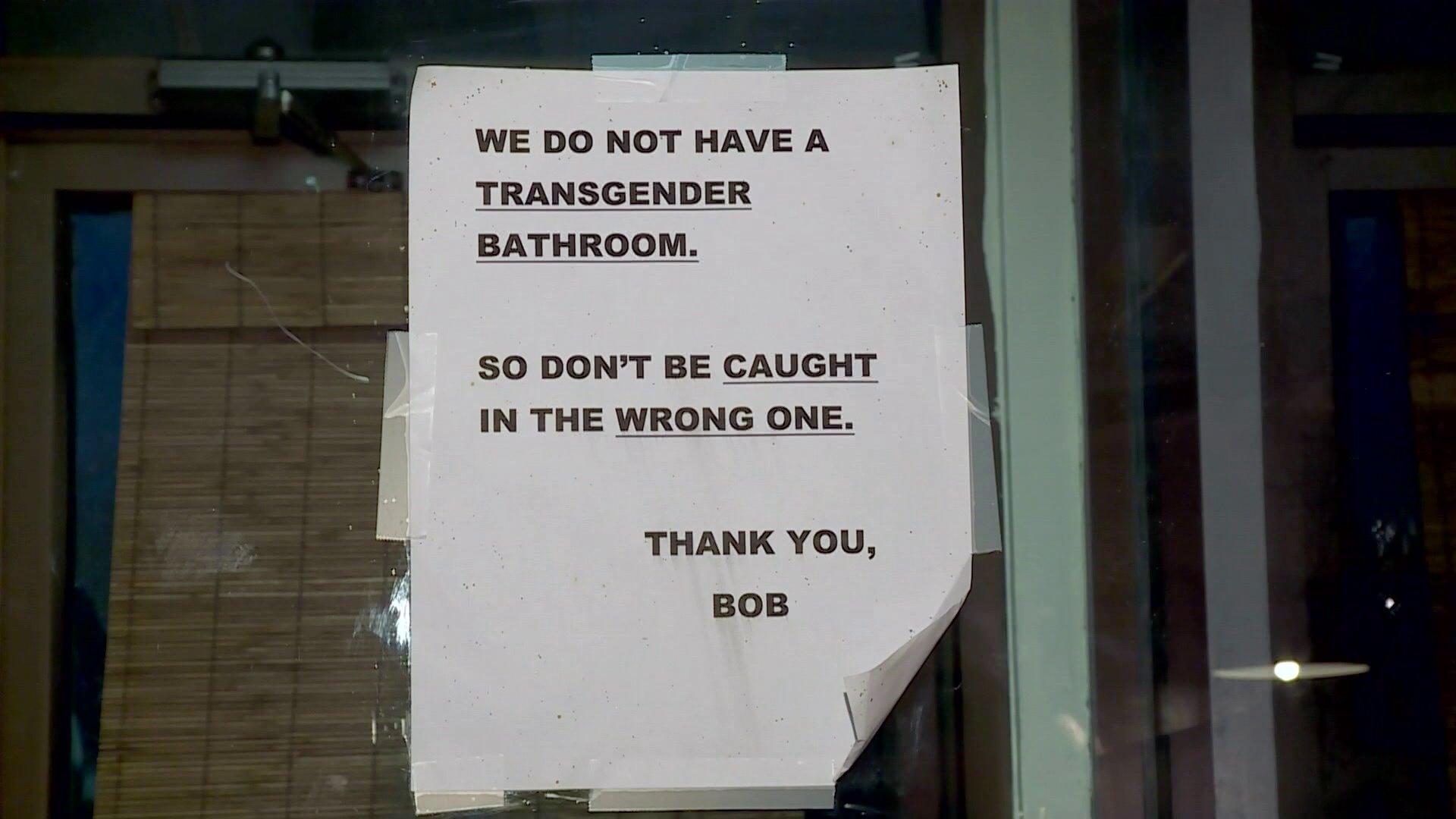 Oklahoma city restaurant 39 s transgender bathroom sign sparks controversy aol news for Transgender bathroom debate article