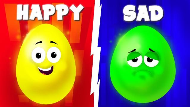 The Opposite Song | Crazy Surprise Eggs | Nursery Rh...