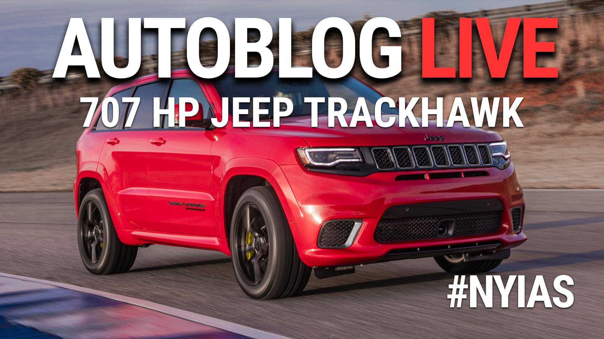 The Jeep Grand Cherokee Trackhawk is the all wheel drive Hellcat you