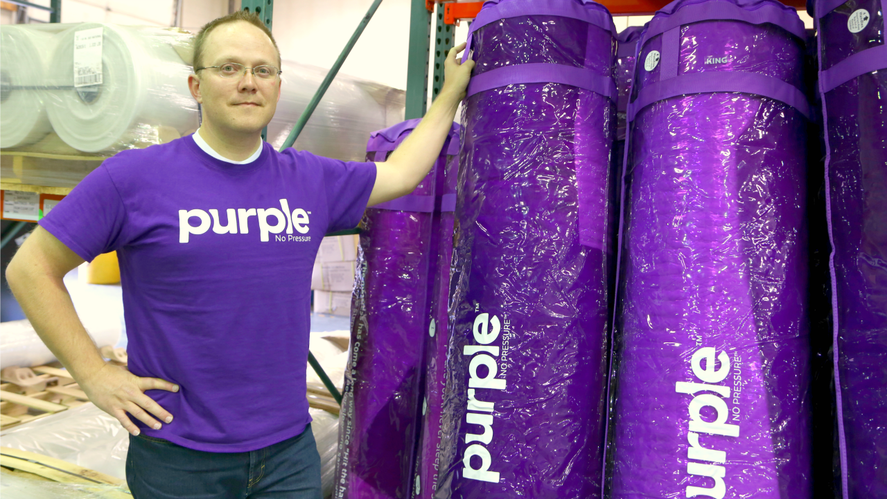 Inside Purple's massive new mattress factory