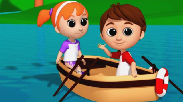 Luke & Lily - Row Your Boat | Nursery Rhymes | 3D So...