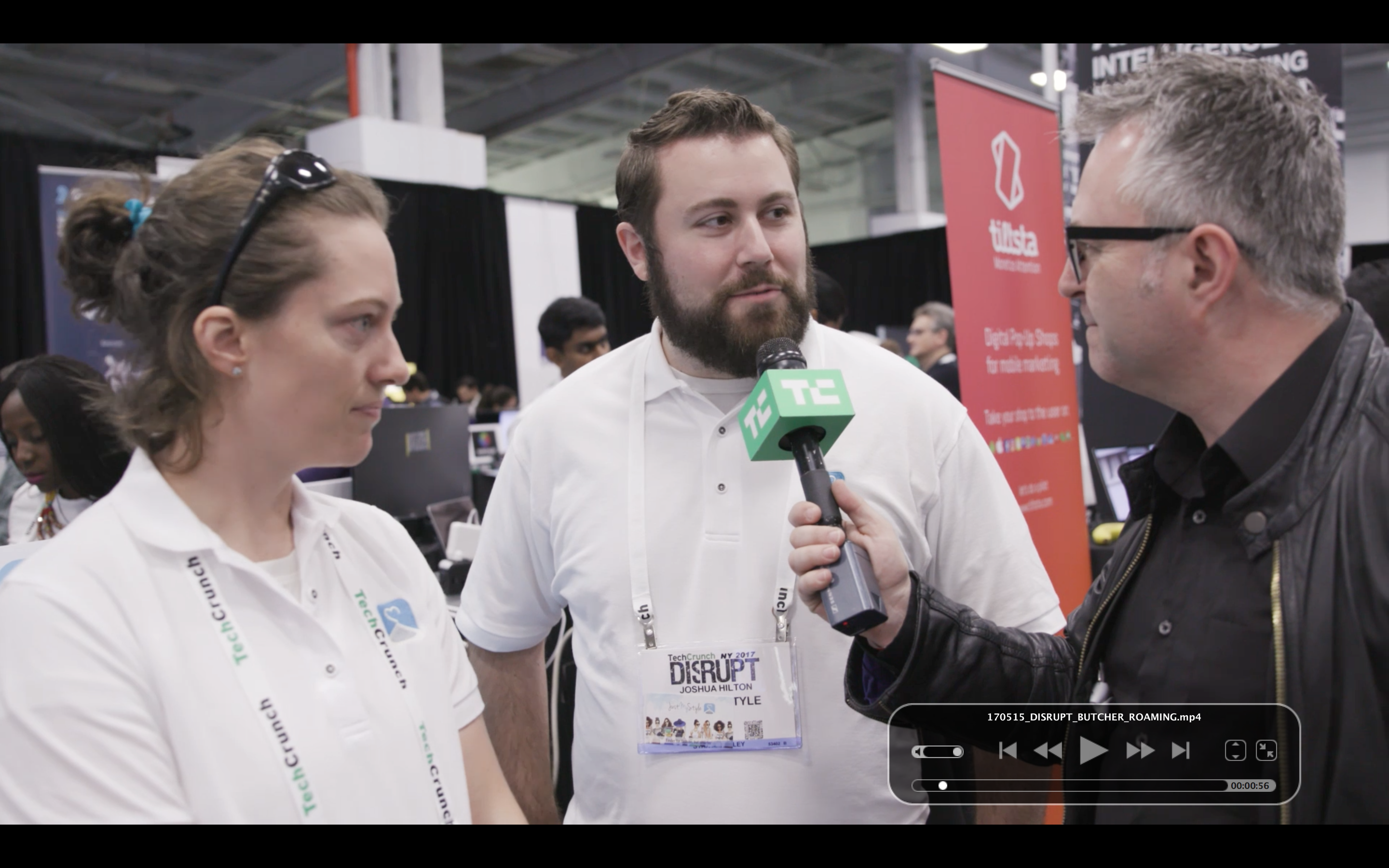 Disrupt 2017 New York Roaming Startup Alley with Mike Butcher