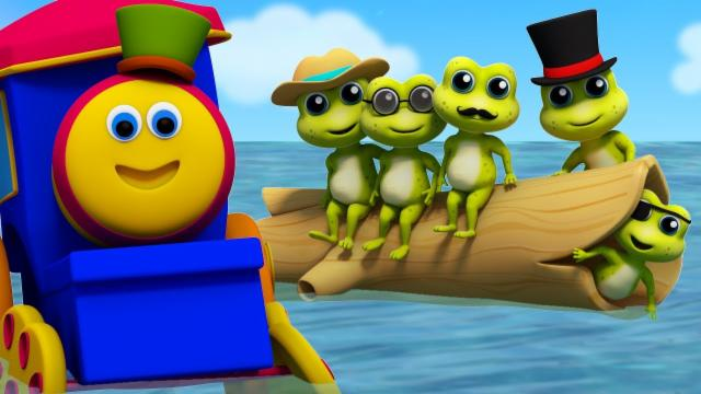 Bob The Train | Five Little Speckled Frogs | Frogs S...