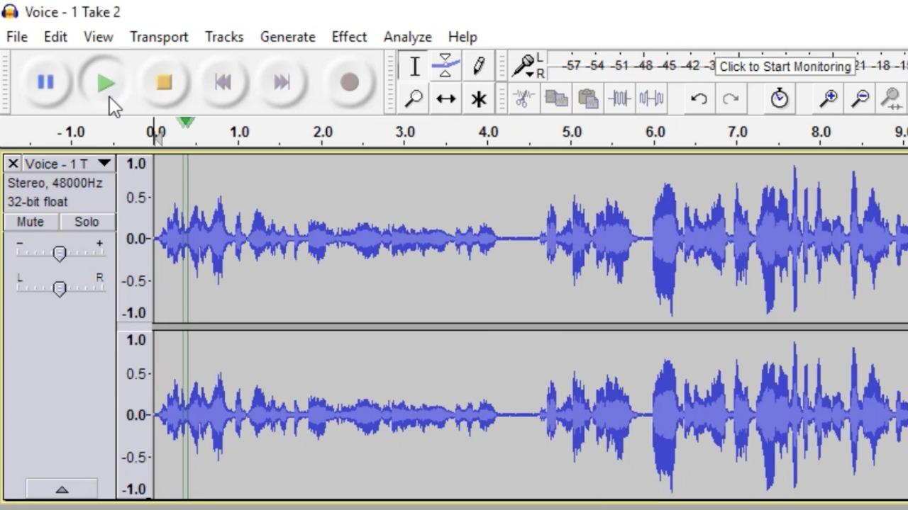 Doug removes background noise from an audio file