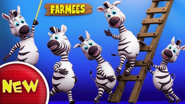 Zebra Finger Family | Nursery Rhymes Farmees | Kids ...