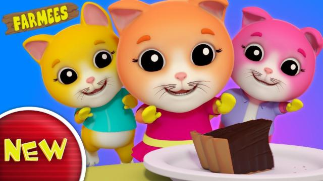 Three Little Kittens | Nursery Rhymes For Kids | Bab...