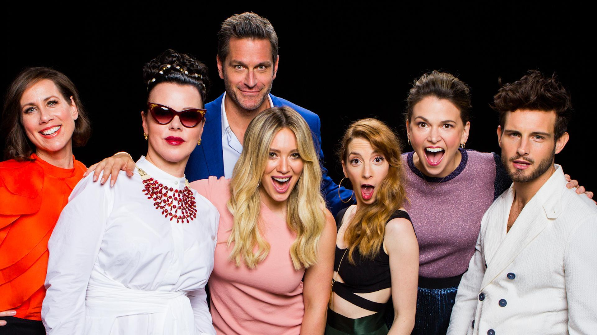 Hilary duff and cast of 39 younger 39 on baring it all onscreen build series nyc - Younger tv show ...