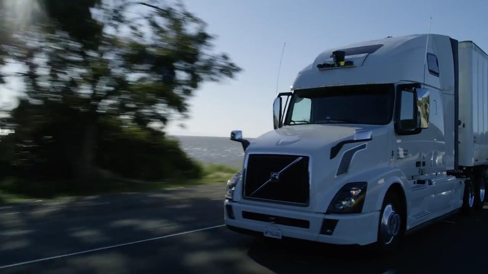 Uber's autonomous trucks
