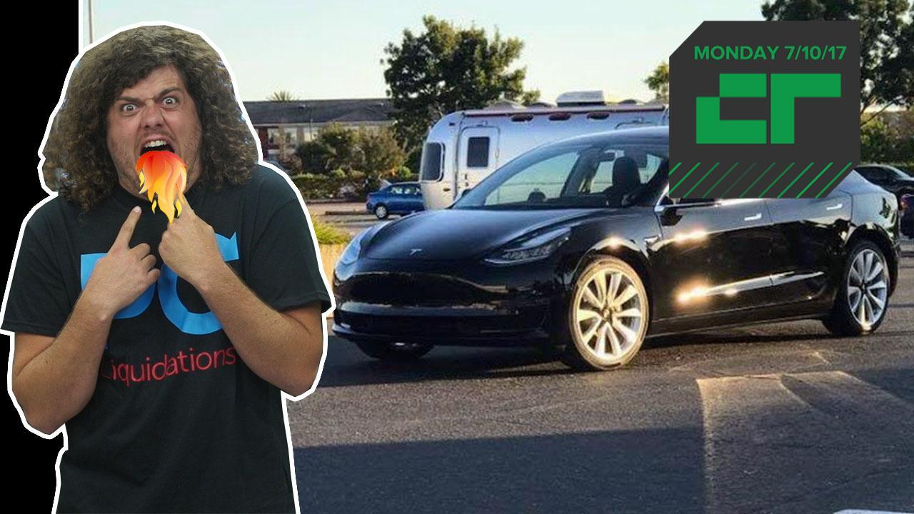 The First Production Tesla Model 3 Rolls Off the Line | Crunch Report
