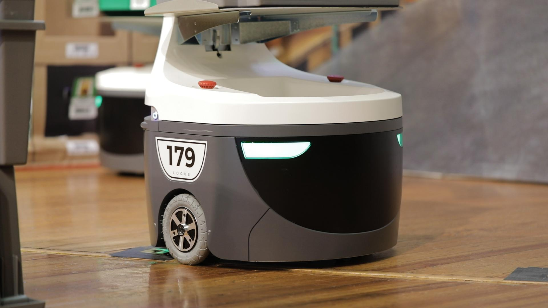 Boston-based Locus Robotics builds autonomous warehouse robots.
