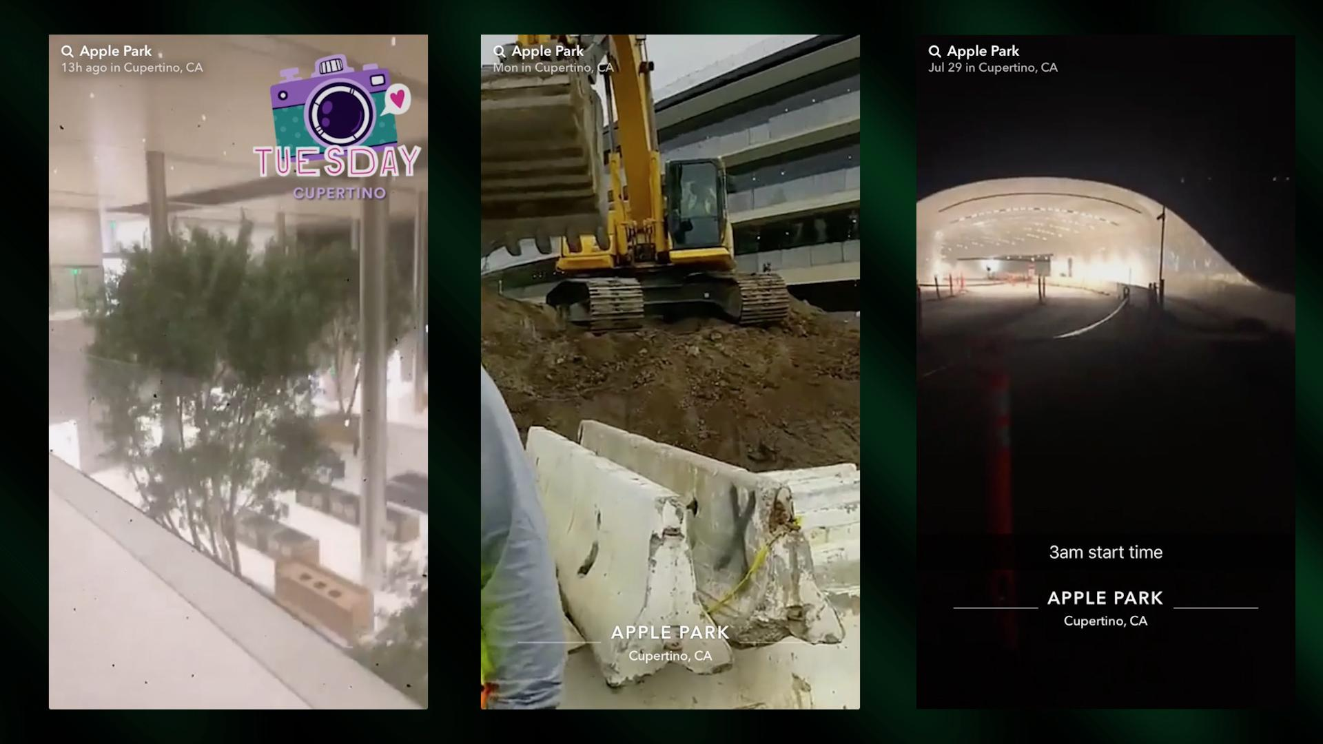 Construction Workers Snapchat Inside Apple Park