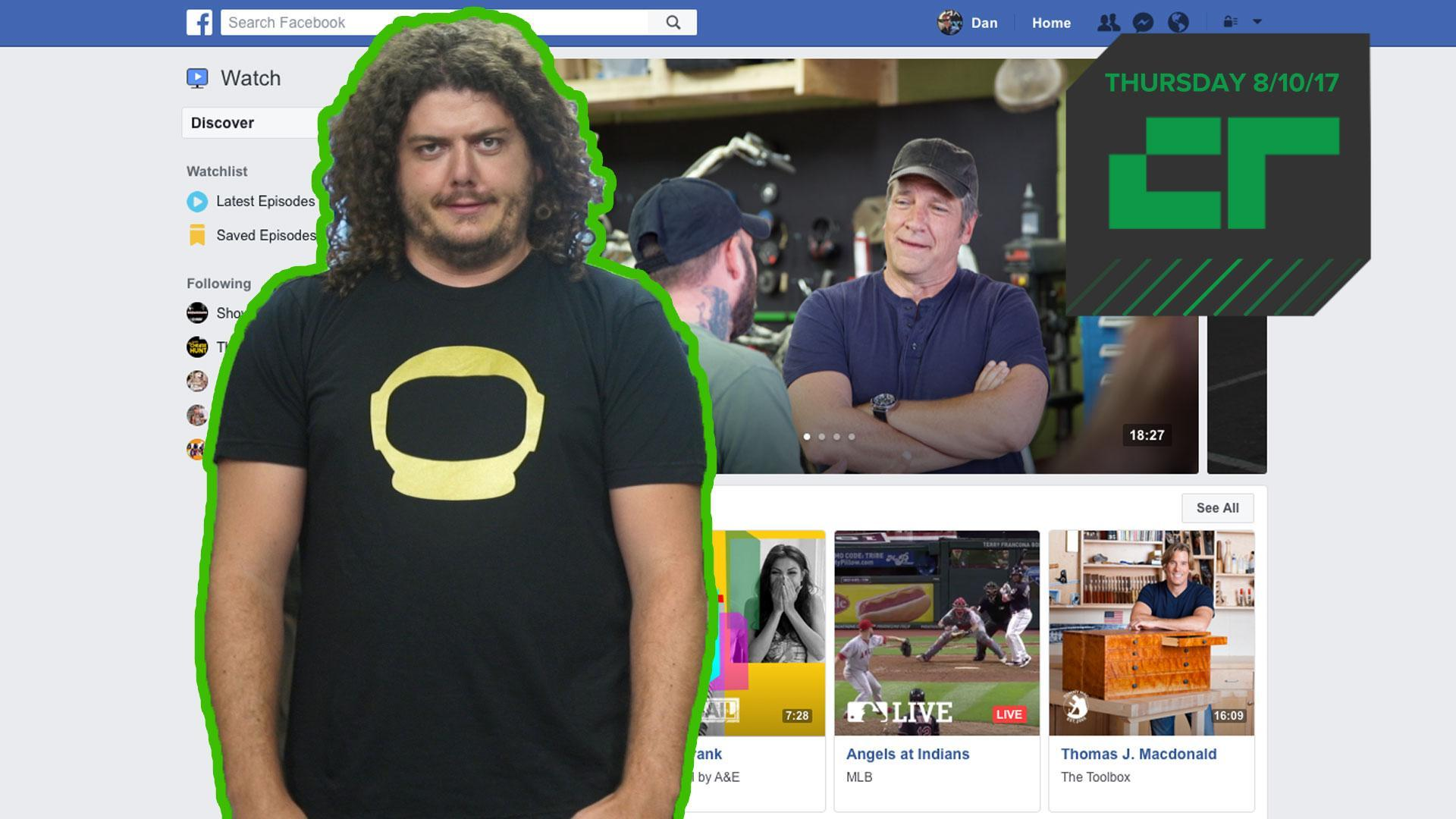 Facebook Launches 'Watch' for Original Shows | Crunch Report