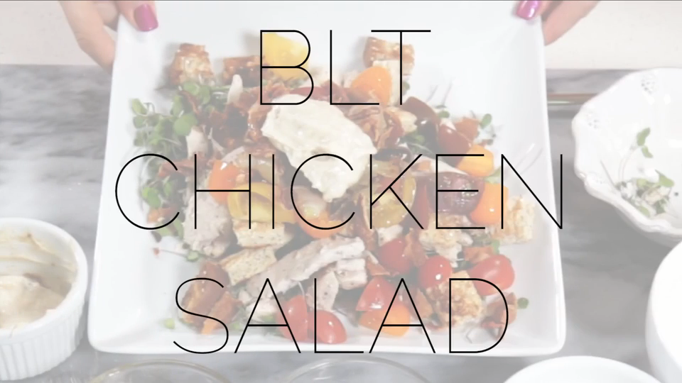 Living with Ashley - BLT Chicken Salad