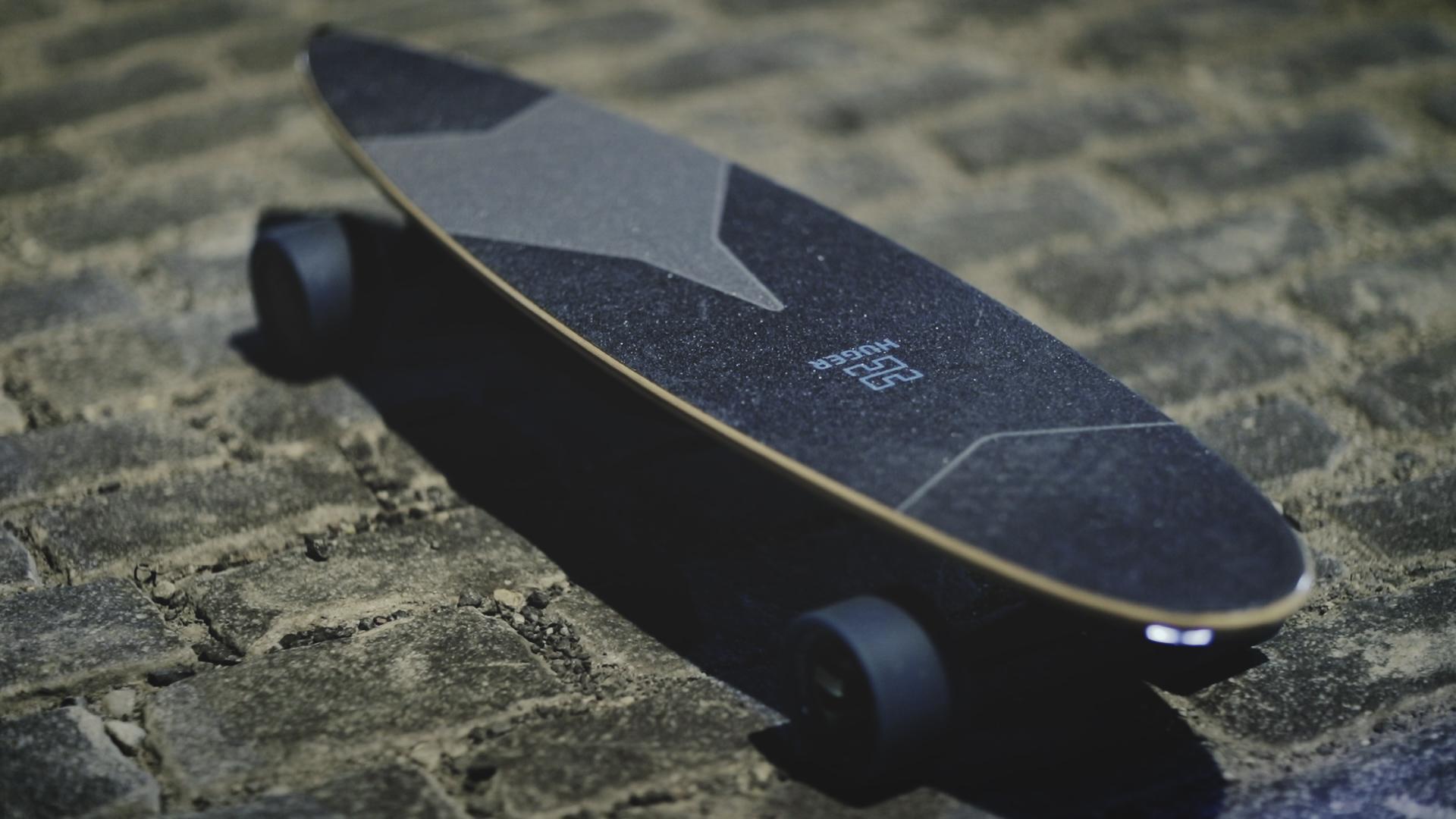 Huger Tech's electric skateboard impresses