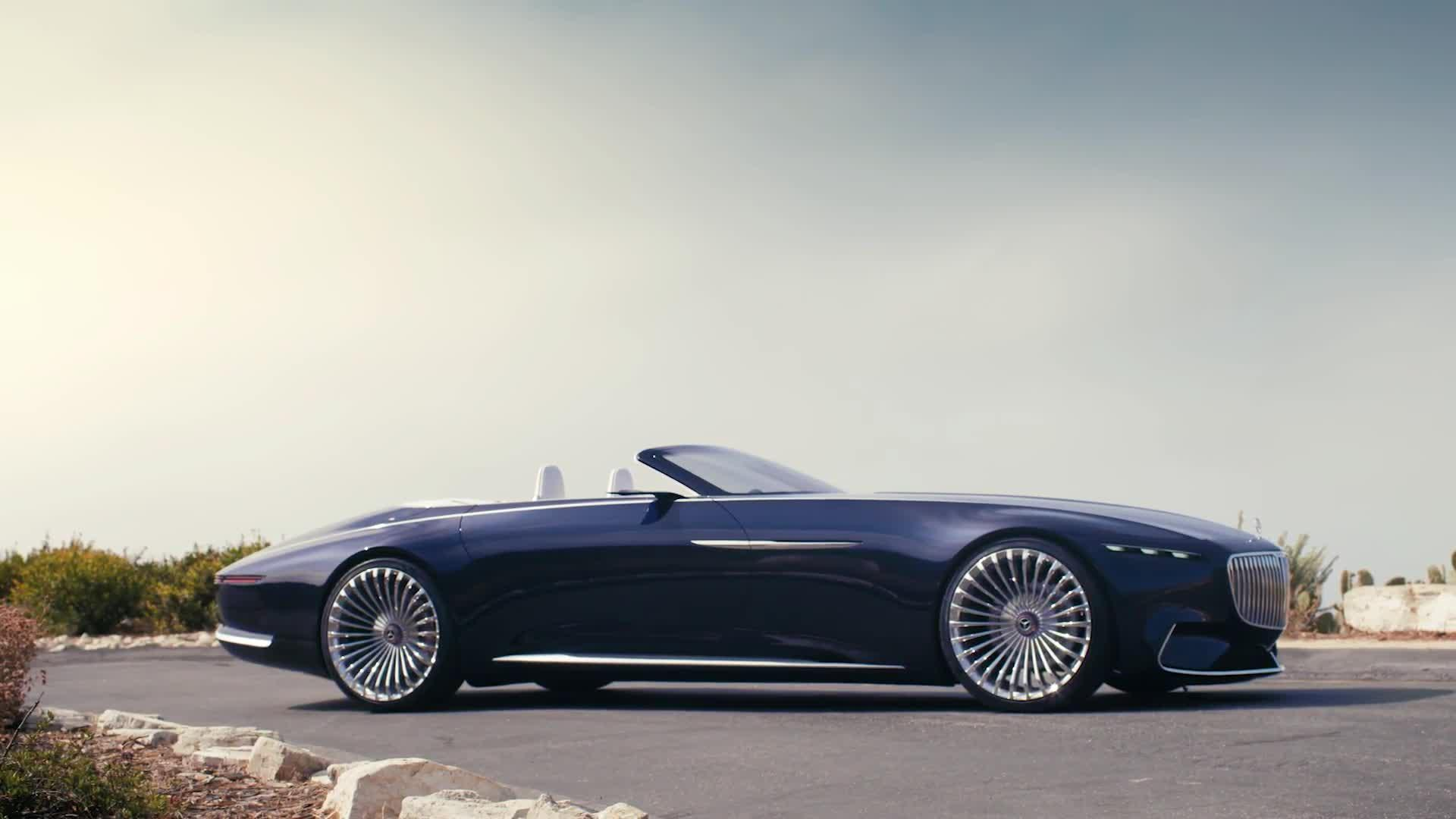 stunning mercedes maybach 6 cabriolet concept unveiled. Black Bedroom Furniture Sets. Home Design Ideas