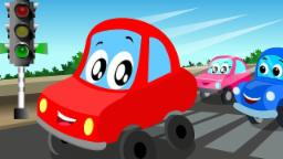 Little Red Car | lets drive on | kids car video | ca...