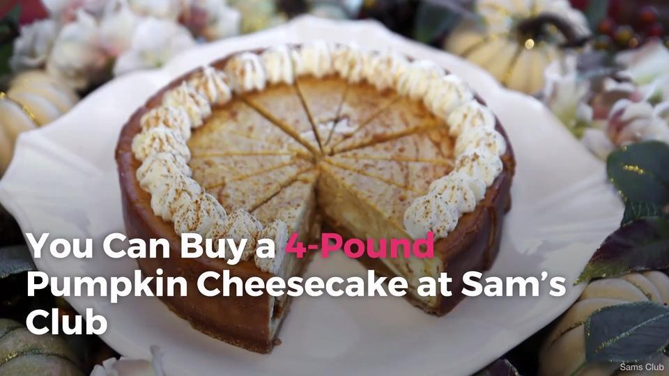 You Can Buy a 4-Pound Pumpkin Cheesecake at Sam's Club
