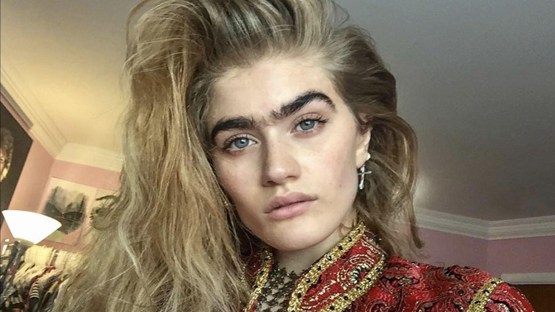 gray hair styles this model is the unibrow movement happen aol uk 4448