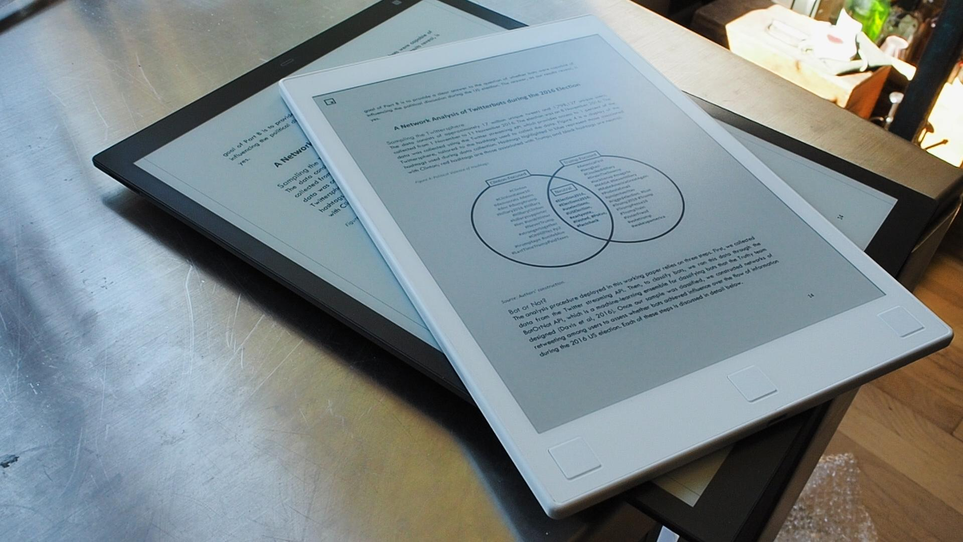 Sony and reMarkable's dueling e-paper tablets