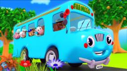 Wheels On The Bus Go Round And Round | Nursery Rhyme...