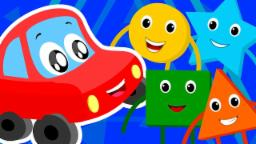 Little Red Car Shape Song Nursery Rhymes Songs For C...