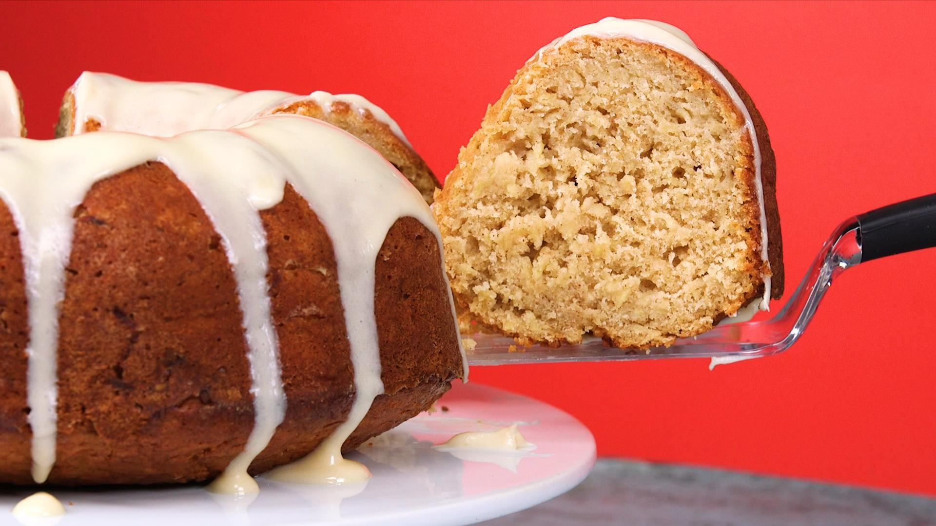 How to Make Apple Bundt Cake with Apple-Cream Cheese Glaze