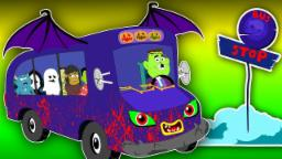 Wheels On The Bus | Scary Rhymes With Lyrics For Chi...