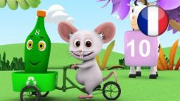 10 Bouteilles Vertes | Comptines pour Enfants | Dessin Animé Francais | Comptine Little Treehouse