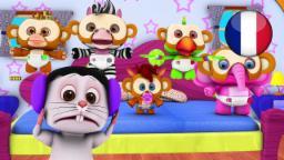 5 Petits Singes | Comptines pour Enfants | Dessin Animé Francais | Comptine Little Treehouse