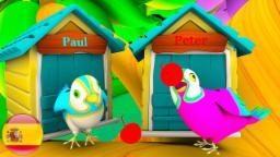 Dos Pájaritos Flacos | Rimas en 3D | Lista de canciones de rimas infantiles | Música de niño