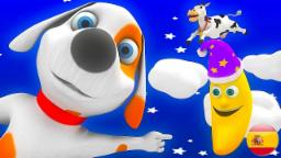 Hey diddle diddle | Videos infantiles | Rimas 3D | Lista de reprodução de rimas de berçário