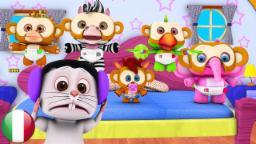 Cinque Scimmiette | Filastrocche in Italiano | Canzoni Del Bambino | Canzoni in Età Prescolare | Ri