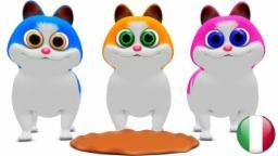 I Tre Gattini | Filastrocche in italiano | Rime per i bambini | Animazione per i bambini