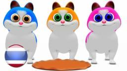แมวน้อยสามตัว | เพลงเด็กอนุบาล | เพลงเด็ก | รวมเพลงเด็กอนุบาล | เพลงการ์ตูน | Little Treehouse