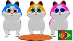 Três Gatinhos Pequenos | Coleção de rimas de berçário | Rimas para crianças | Poesia infantil