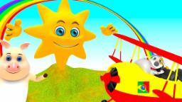 Canções dos miúdos | senhor sol | Mr Sun | Rima de berçário | miúdos vídeos
