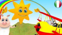 Oh Sole Mio | Filastrocche in italiano | Rime per i bambini | Canzoni in età prescolare | Rime 3D