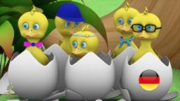 Fünf Kleine Enten | Kinderzimmer Reime Sammlung | Deutsche Kinderlieder | Kleinkind Musik