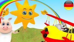 Mr Sonne | Deutsche Kinderlieder | Kinderlieder Wiedergabeliste | Kleinkind Musik | 3D Reime