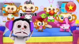 Năm chú khỉ con | nhac thieu nhi hay nhất | ca nhac thieu nhi | Little Treehouse