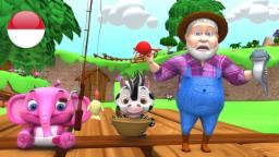 Kutangkap Ikan Hidup | kartun anak | lagu anak terpopuler | taman kanak-kanak | Little Treehouse