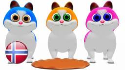 Tre Katter Små | barnesanger på norsk | barnerim | Nursery Rhymes by Little Treehouse